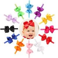 16 unids 4.7 pulgadas arco del pelo del bowknot de las vendas recién nacido Niños Accesorios para el cabello Arco de la cinta del grosgrain de las muchachas hairbands