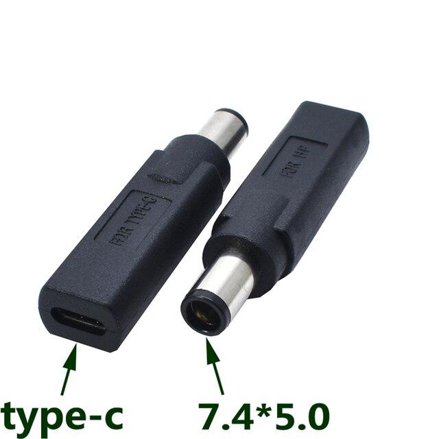 EClyxun-adaptateur chargeur USB 3.1 Type C | 1 pièce, femelle à DC 7.4*5.0, adaptateur connecteur de Charge dalimentation type-c pour HP