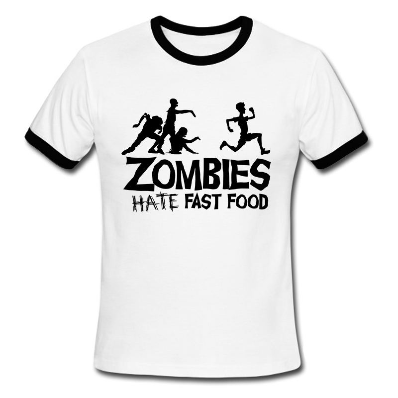 Summer Men T Shirts Zombies Funny Slogan Top Tees Glowing Swag ...