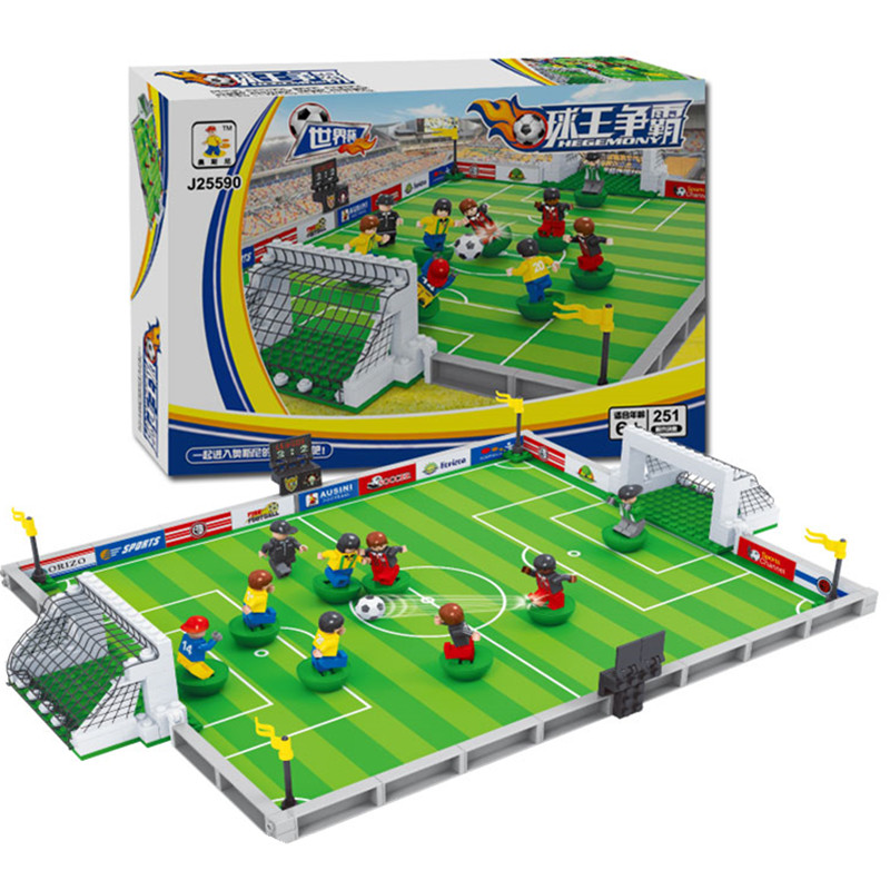 Model Building Kits Compatible With Lepin City Football 200 3D Blocks Educational Model & Building Toys Hobbies For Children lepin 15003 2859pcs city creator town hall sets model building kits set blocks toys for children compatible with 10024