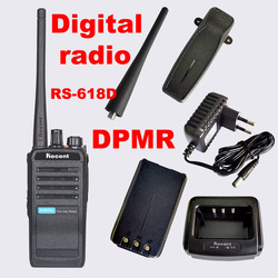 RS-618D Professional DPMR Digital Two Way Radio UHF 400-470MHz 4W/1W Power Walkie Talkie 16 Storage Channels