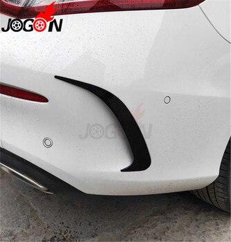 Автомобильный Стайлинг яркий черный Задний воздухозаборник для бампера дефлектор для Benz W205 C Class Coupe 2 двери 2015-2019 аксессуары