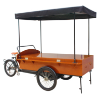 Outdoor food truck use for coffee sell retro coffee bike hot sell in Europe