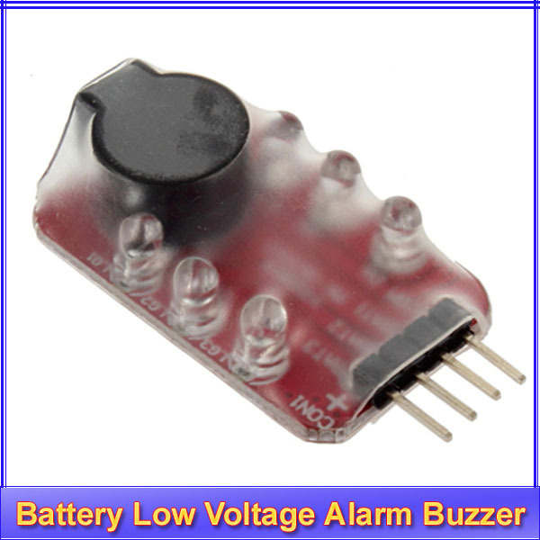 10pcs/lot RC model 2S 3S Detect Lipo Battery Low Voltage Alarm Buzzer+ Register free shipping