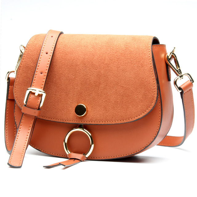 2017 العلامة التجارية مصمم حقيبة صغيرة للنساء جودة عالية جلد طبيعي حقائب كتف الربيع حقيبة يد كاجوال صغيرة بني أزرق اللون