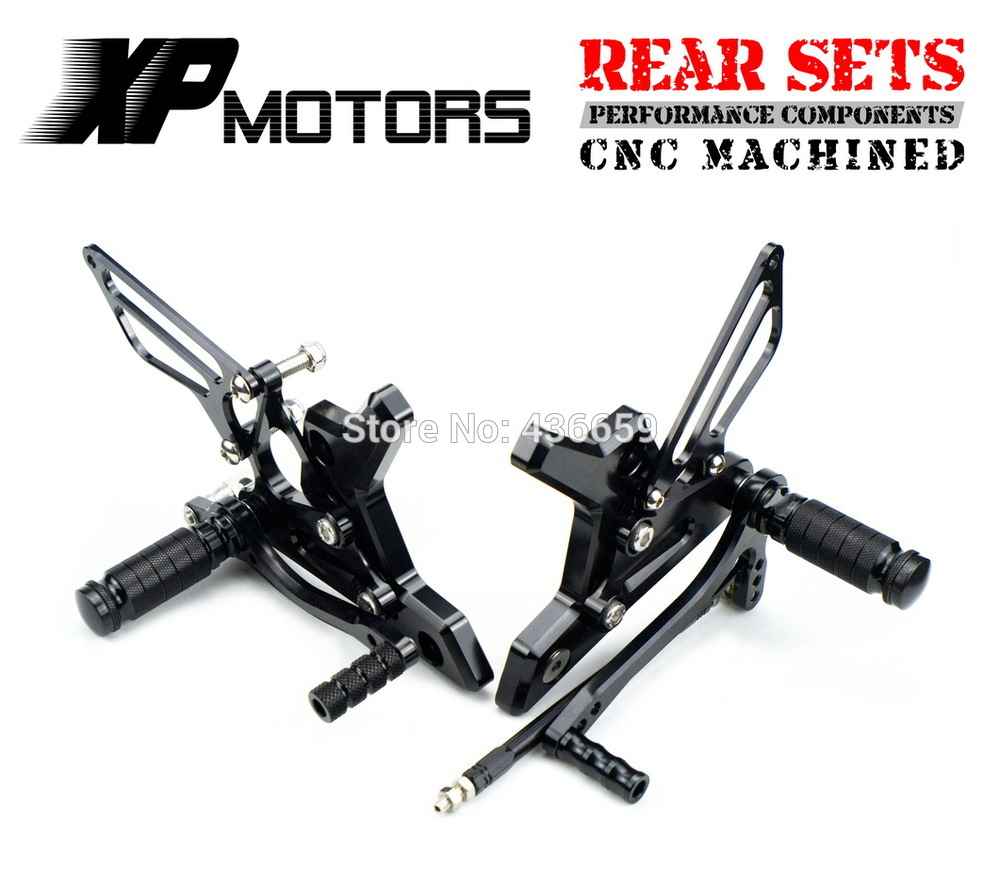 Black Race CNC Foot Control Kit Adjustable Foot Pegs Rear Sets For  Kawasaki Z 750 Z750 2004 2005 2006