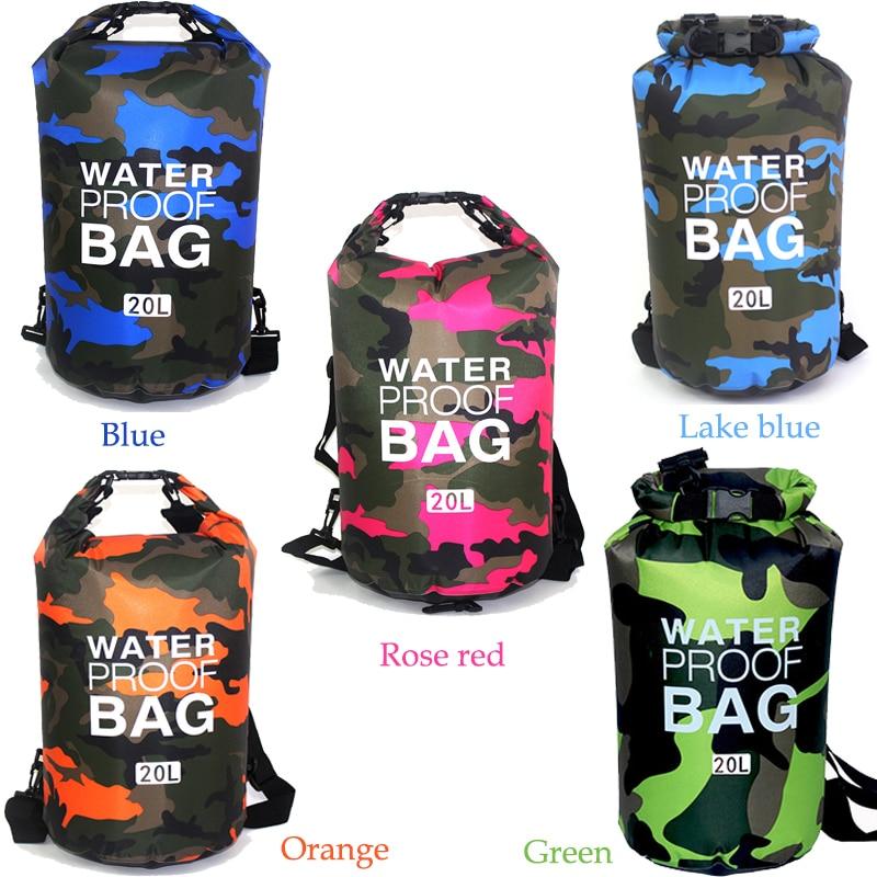 Penyamaran luar Rafting mudah alih Menyelam Beg kering beg PVC kalis - Beg sukan - Foto 5