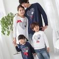 Осень и зиму семьи смотри sweatershirts одежда мать и дочь сын отца мальчик в девочке женщины мужчины детской одежды осень w