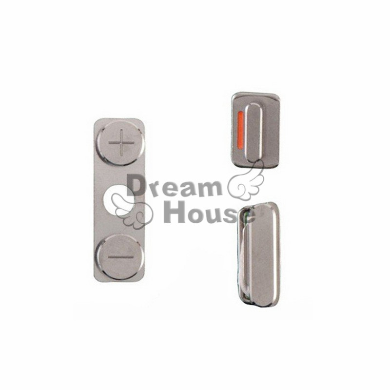 2set High Quality 3in1 Side Key Set Lock Volume Key Button+Power Key Switch On/Off Button + Mute Switch Button For IPhone 4G 4S