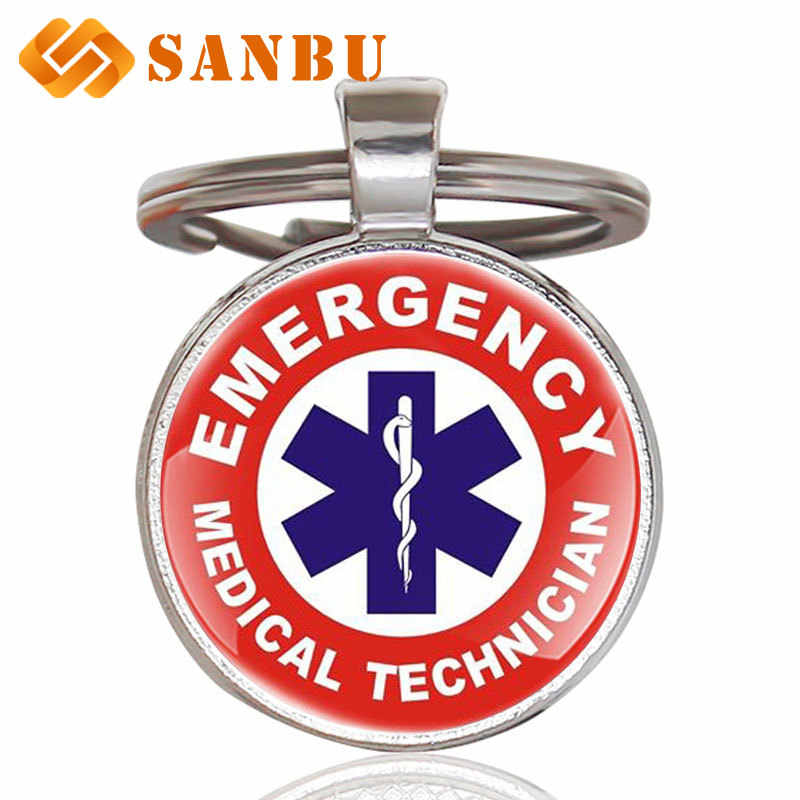 ใหม่แฟชั่นคลาสสิก EMT Emergency Medical Technician Paramedic Badge Key