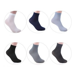 Image 4 - 2017 Wholesale Disposable Socks 100 Pairs China Men Meias Mens Calcetines Chaussette Solid Meias Lote Mens bamboo fiber Sock Lot