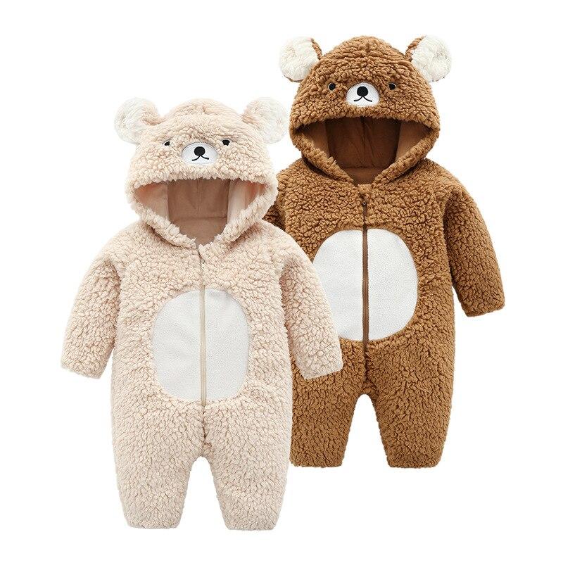 7b87c45f8 Baby Clothes Baby Girl Romper Fleece Jumpsuit Bebes Hooded Warm ...