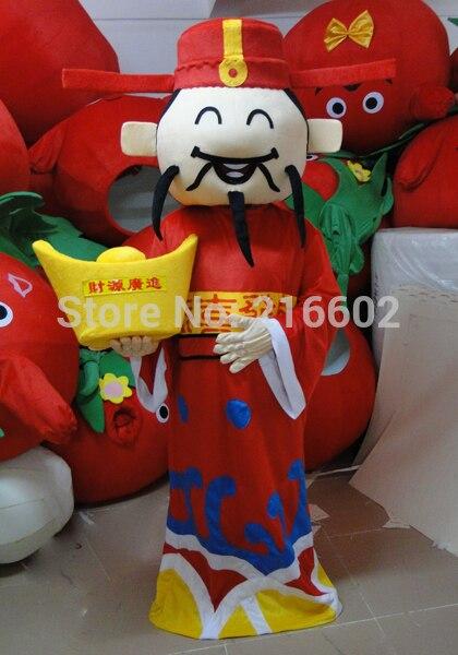 Haute qualité dieu de la fortune mascotte costume adulte taille mammon maître mascotte costume livraison gratuite