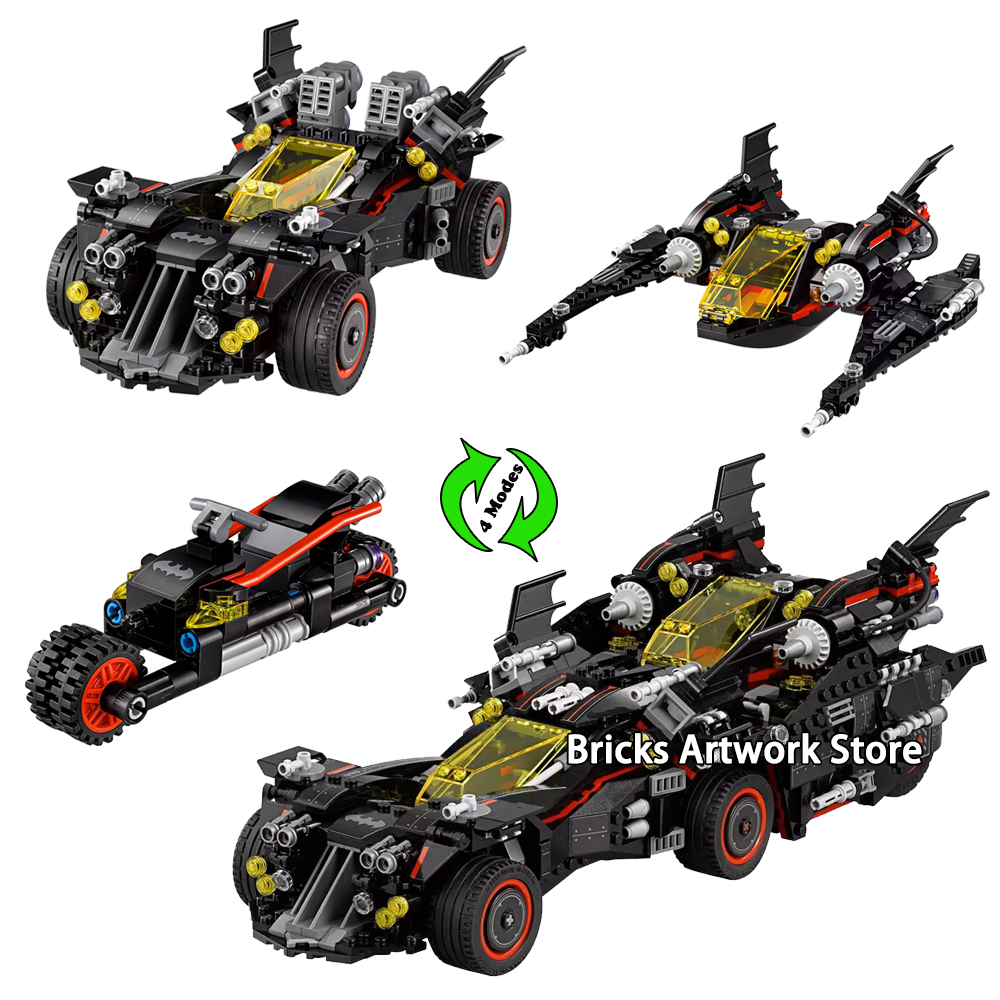 1496pcs 4 in 1 Set Fit Legoness 70917 Batman Movie Ultimate Batmobile Figures Building Blocks Toys for Boys Creative Gifts1496pcs 4 in 1 Set Fit Legoness 70917 Batman Movie Ultimate Batmobile Figures Building Blocks Toys for Boys Creative Gifts