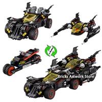 1496pcs 4 in 1 Set Fit Legoness 70917 Batman Movie Ultimate Batmobile Figures Building Blocks Toys for Boys Creative Gifts