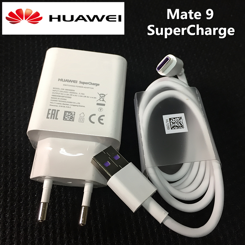 Original Supercharge charger HUAWEI Mate 9 Pro P10 plus smartphone Usb Wall Travel power Adapter charge 5A usb Type C data cable