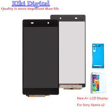 "Original quality 5.2"" For Sony Xperia Z2 LCD L50W D6502 D6503 LCD Display Touch Screen Digitizer adhesive replacement"