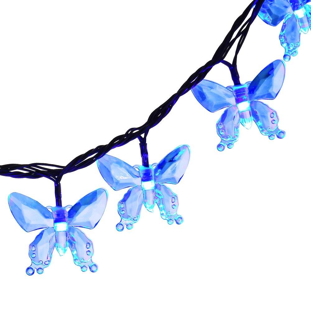 Butterfly String Lights Asda : New Solar Christmas Lights 24.6ft 40 LED 8 Modes Butterfly Solar Fairy String Lights Led Outdoor ...