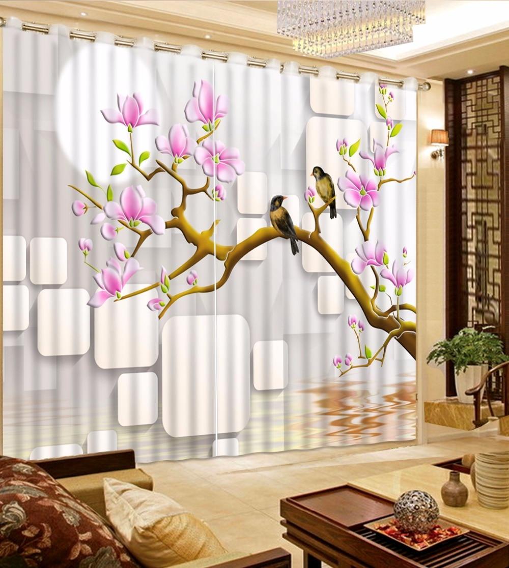 3D Photo Flower Window Bedroom Curtains Beautiful 3D ... on Beautiful Bedroom Curtains  id=19878