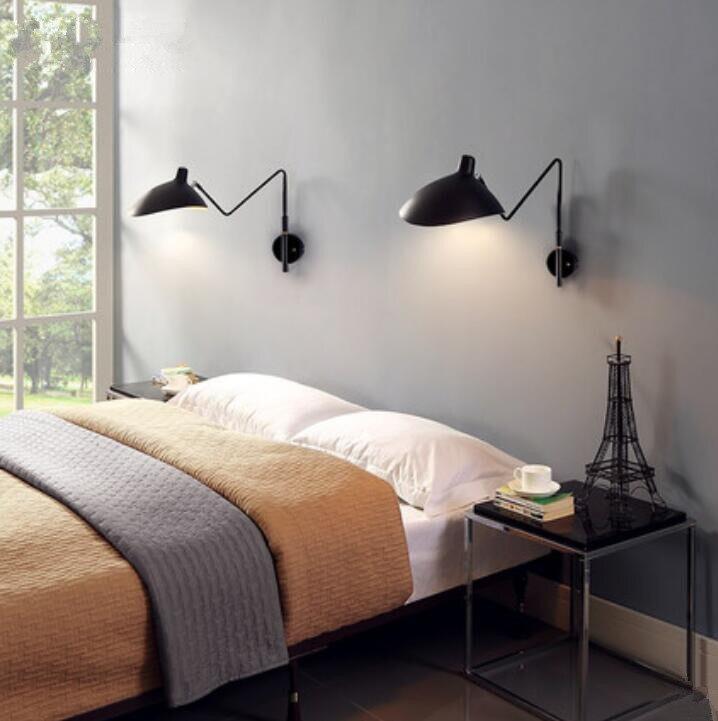 Nordic Creative Retro Loft Simple Serge Mouille Claws Wall Lamp Long Swing Rod Duckbill Wall Light