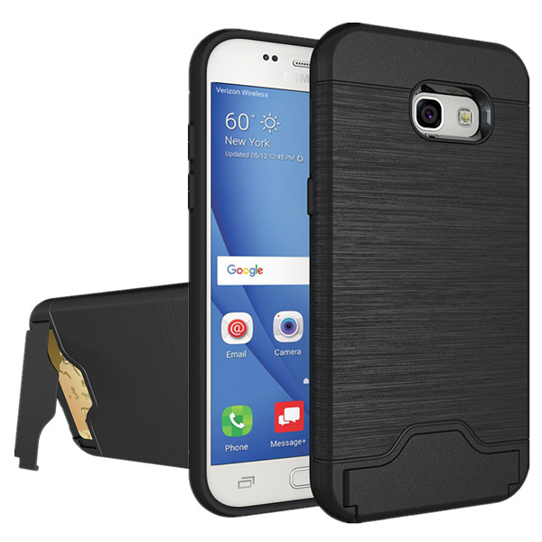 HYYGEDeal Dual Layer 2 in 1 Wallet ID Card Slot <font><b>Holder</b></font> Kickstand Shockproof Protective <font><b>phone</b></font> cases for <font><b>Samsung</b></font> Galaxy <font><b>A5</b></font> 2017
