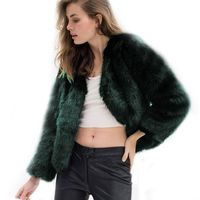 Faux Fur Coat Women Long Sleeve Outerwear Thicken Warm Winter Jackets Coats Female Fashion Streetwear Cardigans