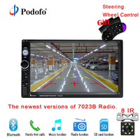 7023B Podofo 2 Din Car Multimedia Player Audio Stereo Radio 7 HD Touch Screen MP5 Player
