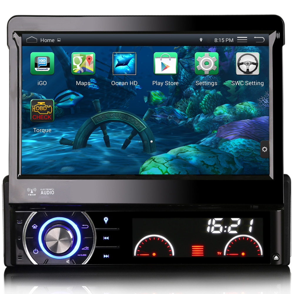 free map 1din car radio dvd player gps bluetooth android 4. Black Bedroom Furniture Sets. Home Design Ideas