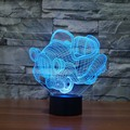 7 color Changing Led light  Holiday Atmosphere Decorative Car Toy  Lighting Gadget LED Night Light 3D Illusion Lamp Light