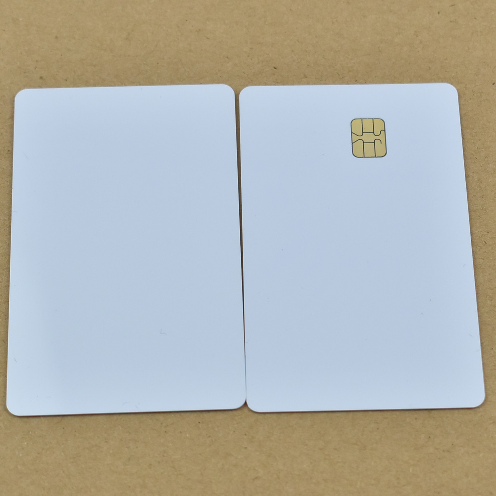 10pcs/lot ISO7816 White PVC Card with SEL 4442 Chip Contact IC Card Blank Contact Smart Card 20pcs lot contact sle4428 chip gold card with magnetic stripe pvc blank smart card purchase card 1k memory free shipping