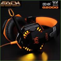 Super Deep Bass Gaming Headphone Earphones Headphones Game Headset Gamer With Microphone Noise Canceling EACH G2000