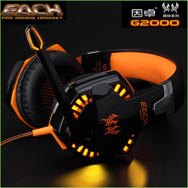 Super Deep Bass Gaming Headphone Earphones & Headphones Game Headset Gamer With Microphone Noise Canceling EACH G2000 superlux hd669 professional studio standard monitoring headphones auriculares noise isolating game headphone sports earphones