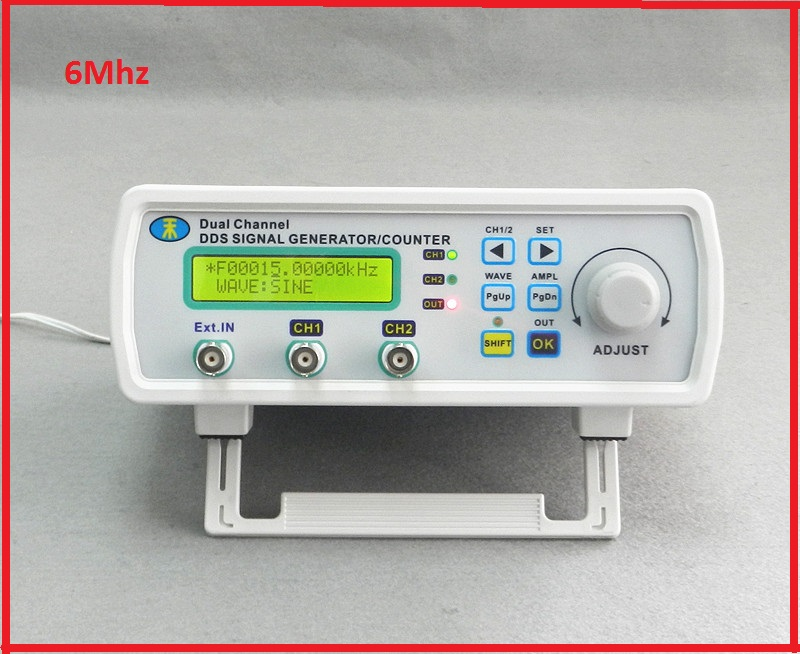 MHS-3200A DDS NC dual channel function signal generator TTL frequency meter counter DDS Signal Generator Waveform generator 6MHz free shipping mhs 3206a dual channel nc function dds signal generator counter dds signal source frequency meter 6mhz