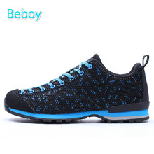 Beboy New Summer Hiking Shoes Men Women Low-Cut Trekking Sneakers Shoes Breathable Mesh Anti-skid Outdoor Sport Shoes Sneakers