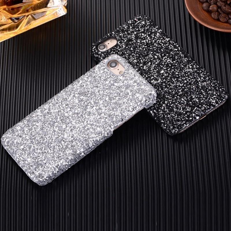 Bling glitter case untuk iphone 7 8 plus asli hard case untuk iphone - Aksesori dan suku cadang ponsel - Foto 3