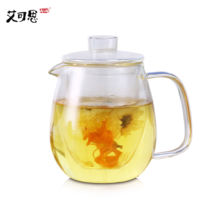 X&W Large Jug Glass Water Kettle Tea Pot My Water Pots For Flower Coffee With Handle Boiling Cold Drinkware 600ml 1200ml