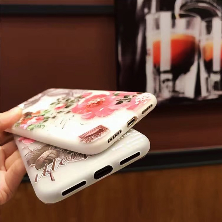 Matte Soft Bird Butterfly Relief Plant Flowers for iPhone 5S SE 6 6S 7 8 Plus X Butterfly Cases Soft Phone Cover