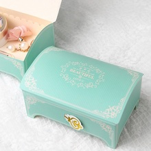 10 pcs gold blue elegant princess treasure box design Paper Box candy Cookie valentine chocolate gift Packaging Storage Boxes