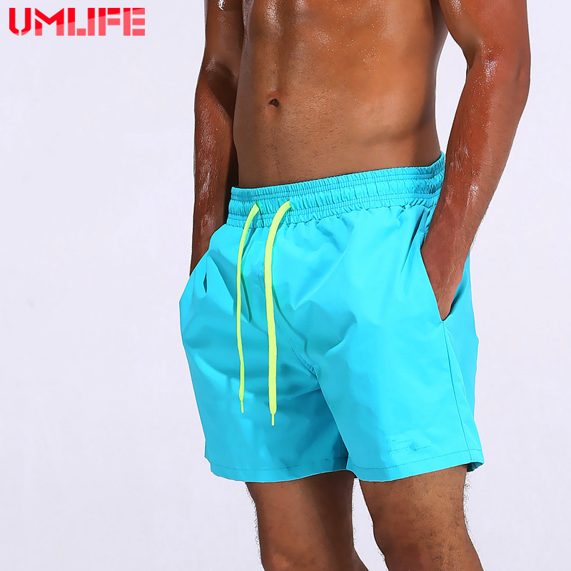 UMLIFE Beach Shorts For Man Breathable Surf Board Swimwear Quick Dry Swim Trunks Pants With Pocket Male Briefs Bathing Suit in Body Suits from Sports Entertainment