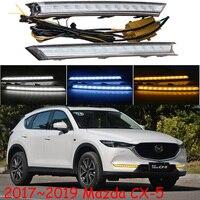 1set car headlight for Mazda CX 5 daytime Light CX5 CX 5 car accessories 2017~2019y LED DRL headlamp for cx 5 fog light