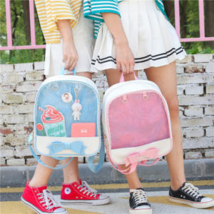 ZHIERNA Korean backpack transparent pink girl cute bag 6ad6d8cc360f6