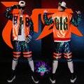 Мужчины sequis костюмы хип-хоп джаз наряд одежда показать Блестка пальто короткий набор певцы куртка DJ верхняя одежда набор