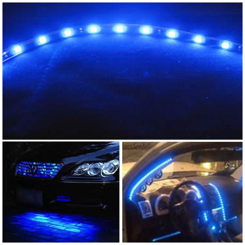 Us 3 89 22 Off Universal 8pcs Dc 12v Led Light Strip Dome Light Car Styling Interior Exterior Lighting Led Strip Light Decoration Warning Lamp In