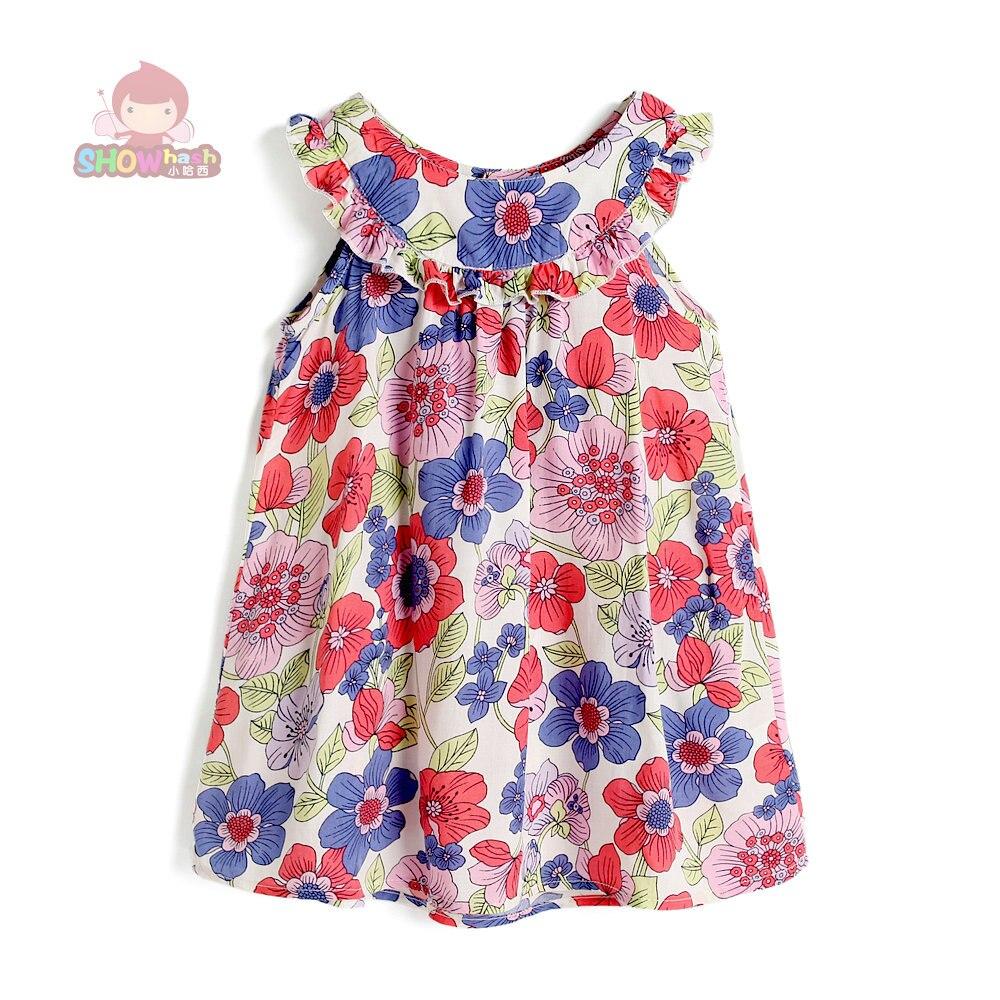 SHOWHASH filles Robe Sans Manches Fleur Robes Parti costume pour enfants SHXA001SD robes infantil