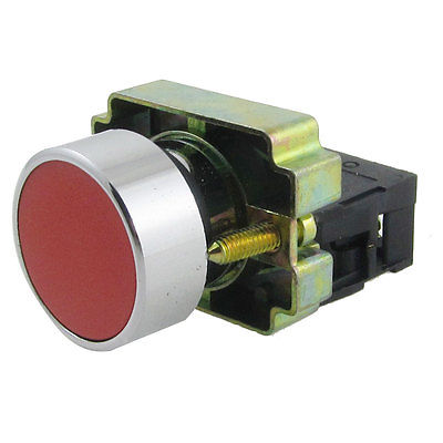 XB2-BA42 Red Sign Flat Momentary Push Button Switch Non Lock 22mm 1 NC N/C