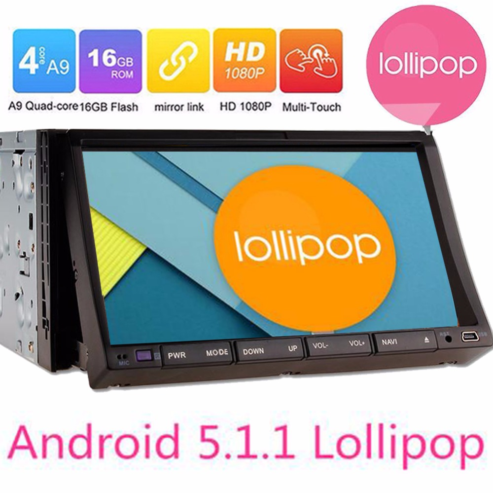 Android 5 1 1 7inch Double 2 Din Car font b Radio b font GPS Navigation