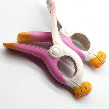 1Pcs Parrot Bird Plastic Beach Slipper Towel Clips Large Sun Bed Lounger Holder Pool Clothes Peg Quilt clip Sock clips