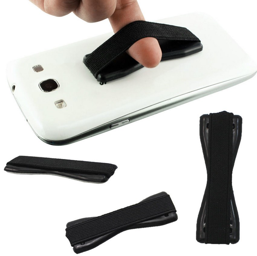 Finger Holder Cell Phone Rubber Grip One Handed Anti ...