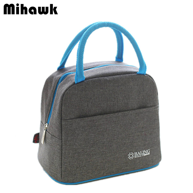 Large Oxford Thermal Lunch Bag Women Portable Thermo Bag Travel Picnic Tote Insulated Food Beverage Storage Accessories Supply