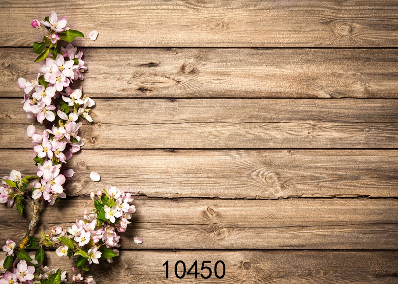 Simulation Wood Photography Backdrops Flower Old Board Photo Studio Background